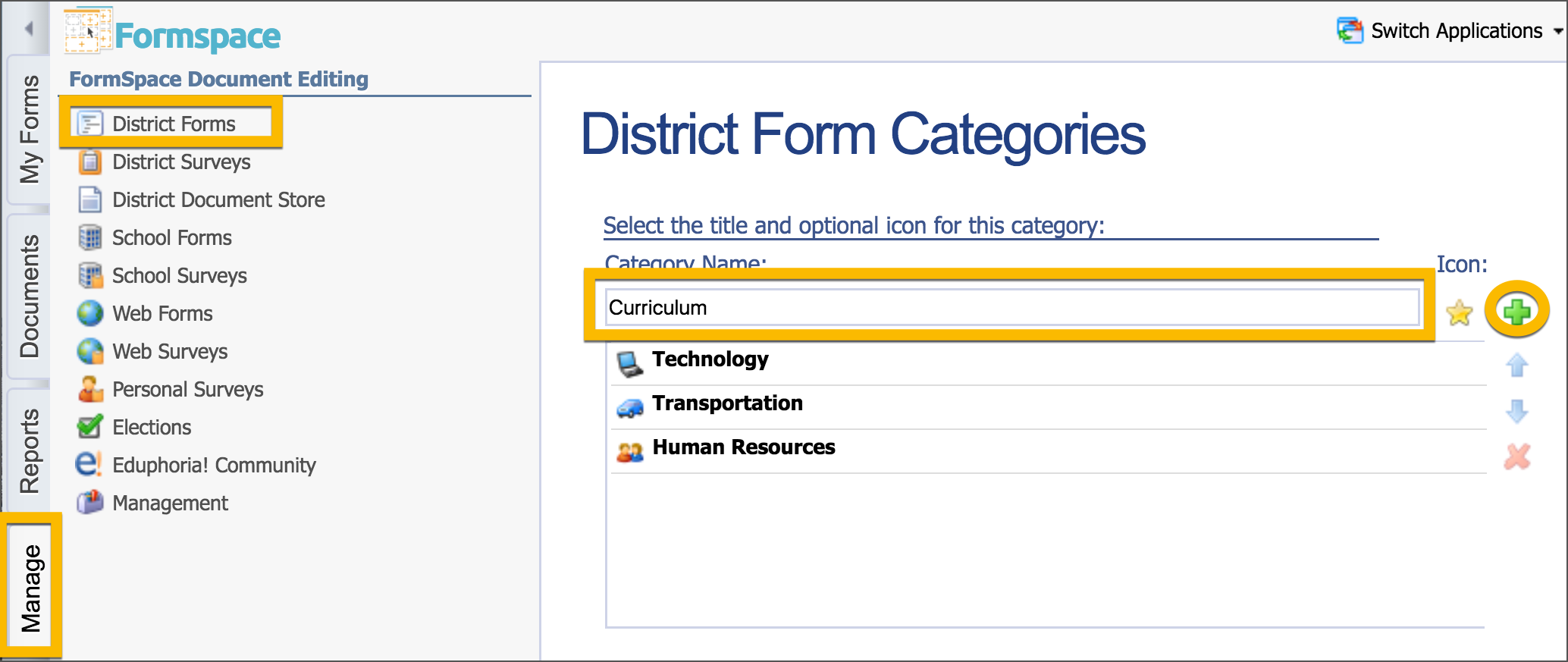 create & edit forms – eduphoria!