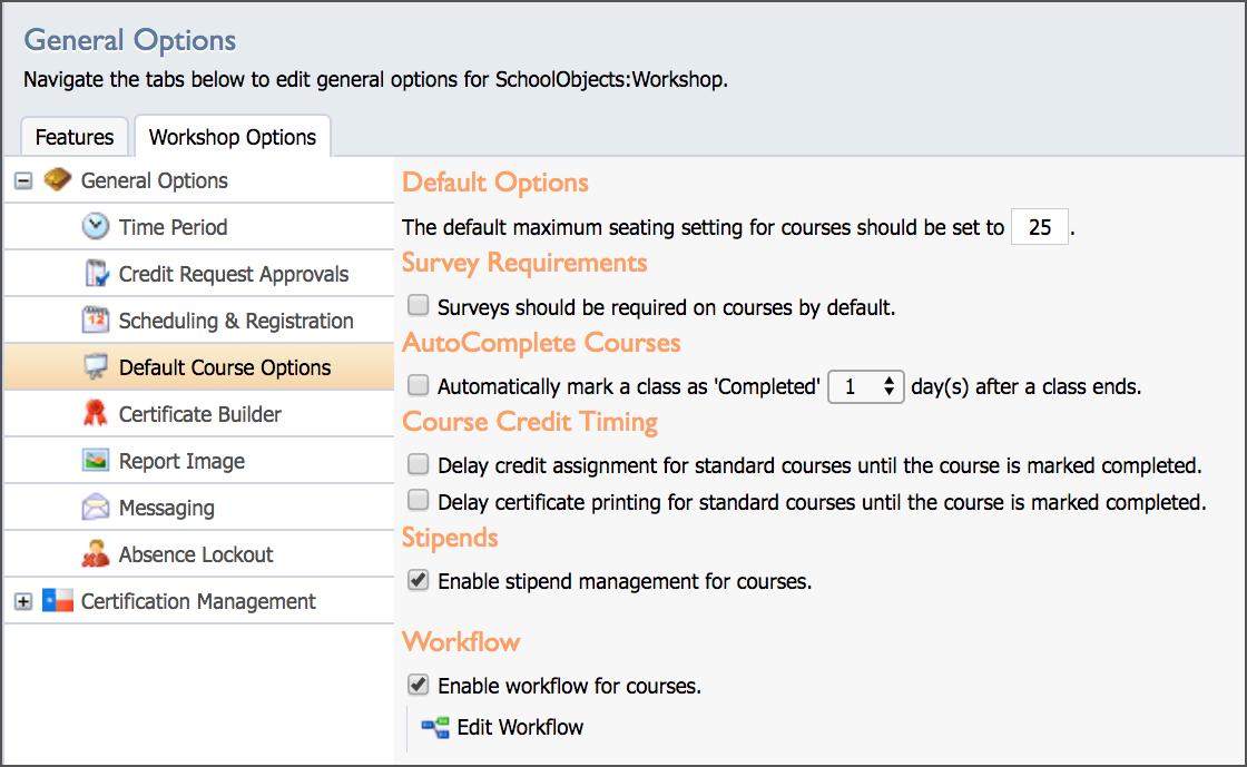setup workshop options eduphoria rh eduphoria zendesk com Eduphoria Dallas ISD Eduphoria Game