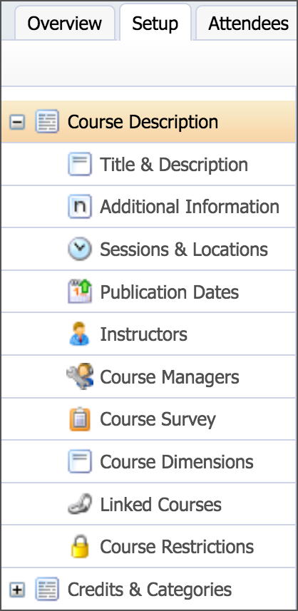 modify course description settings eduphoria