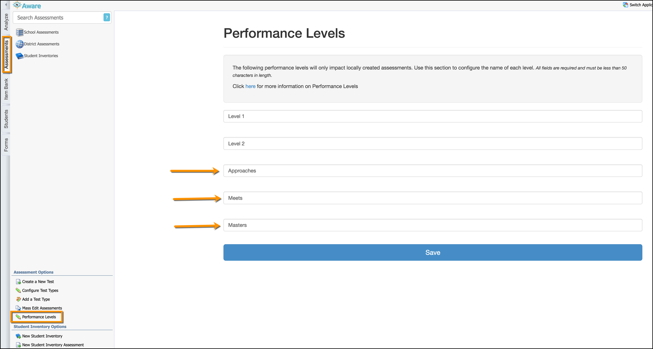 Additional Performance Levels For Local Assessments Eduphoria Level 1 career assessment for students with disabilities: additional performance levels for local
