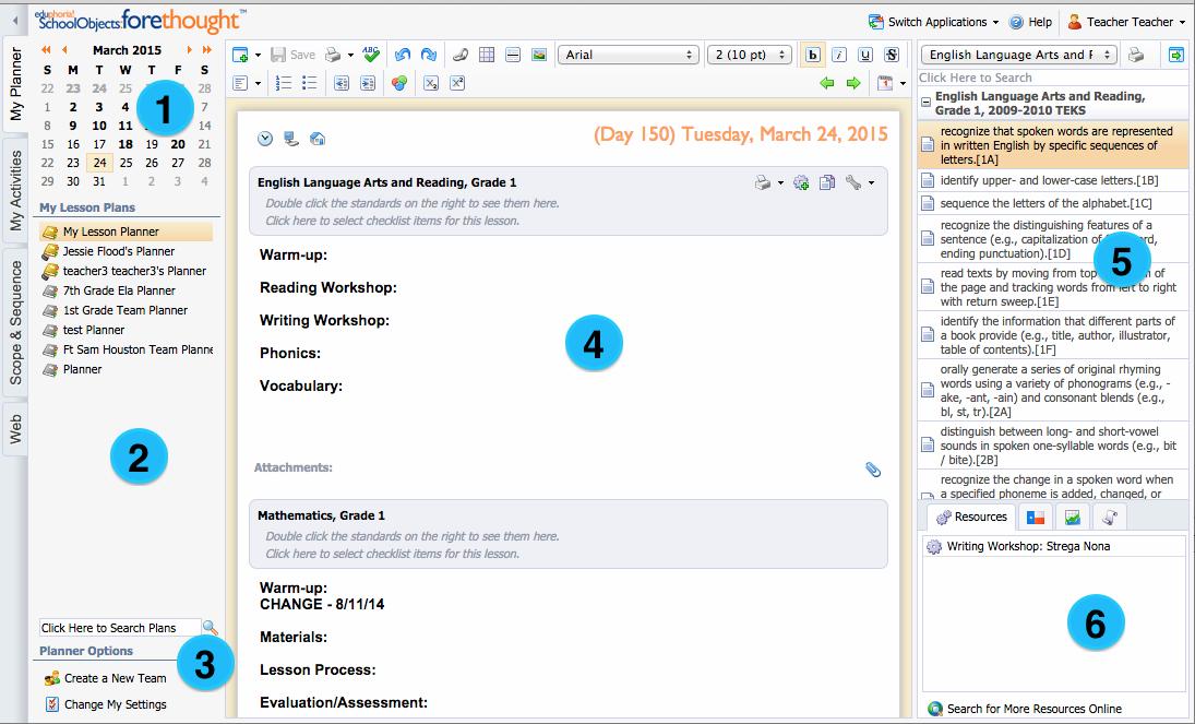 teks lesson plan template